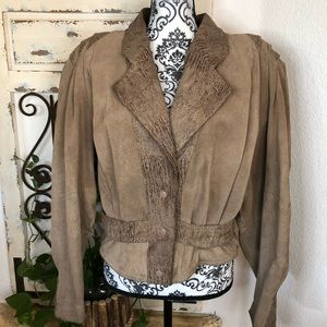 Yucatán bay 80's brown leather jacket